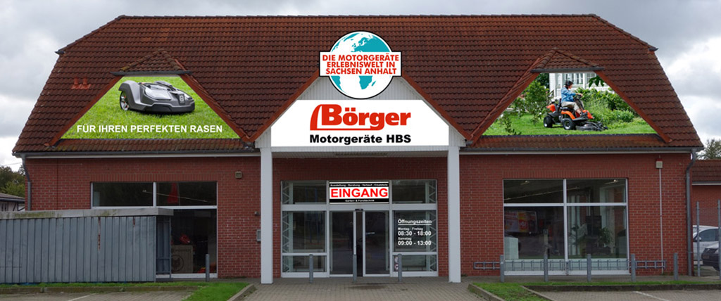 Boerger-Motorgeraete-Halberstadt-Gartentechnik-Forsttechnik-Kommunaltechnik-Aussenbereich-Neues-Gebaeude-Sargstedter-Weg-Eingang